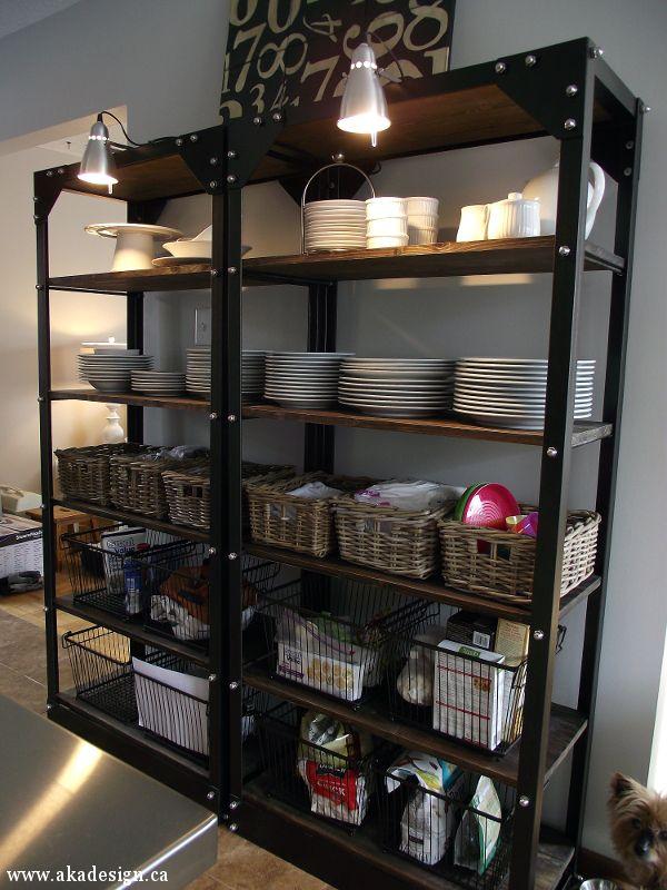 industrial shelves Restoration Hardware Hacks on Hometalk