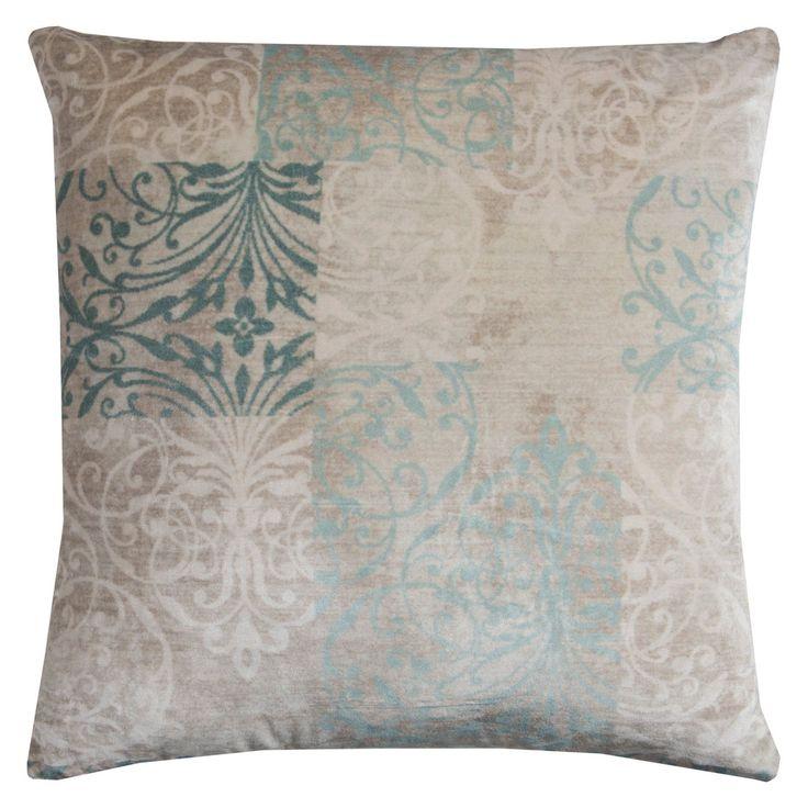Rizzy Home Blocked Damask Decorative Pillow - PILT11361IVAA2020