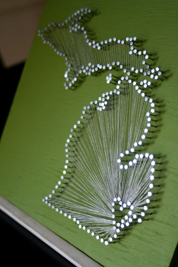 Love your state nail and string art. :) Can get customized too... I'd so have the heart over A2