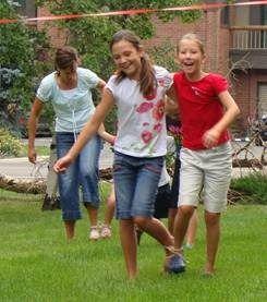 3 legged race (use bandanas to tie), clothes pin drop, & wheelbarrow race