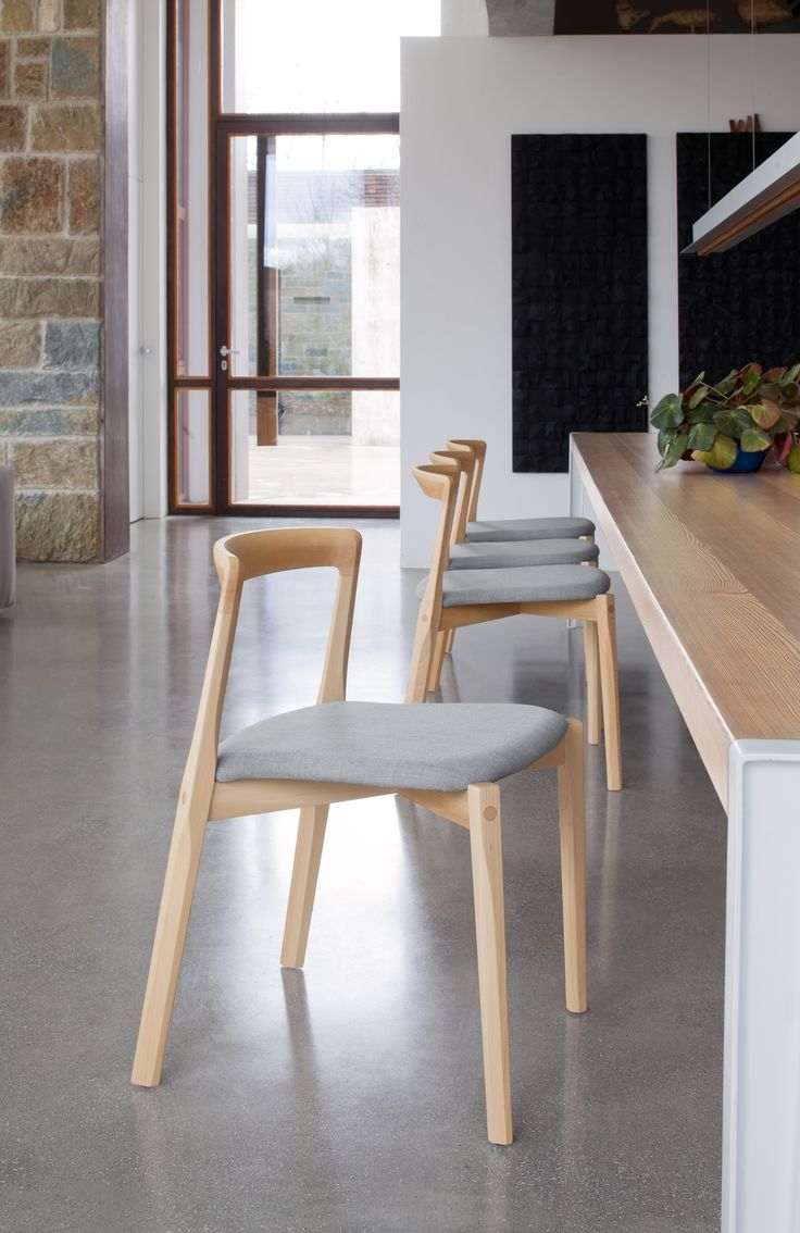 The #Helix Chair In Solid Wood Features Back Legs That Were Explicitly  Inspired By Aeroplane