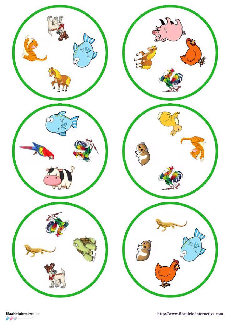 Une version du c l bre jeu de dobble sur le th me des - Image d animaux a imprimer ...