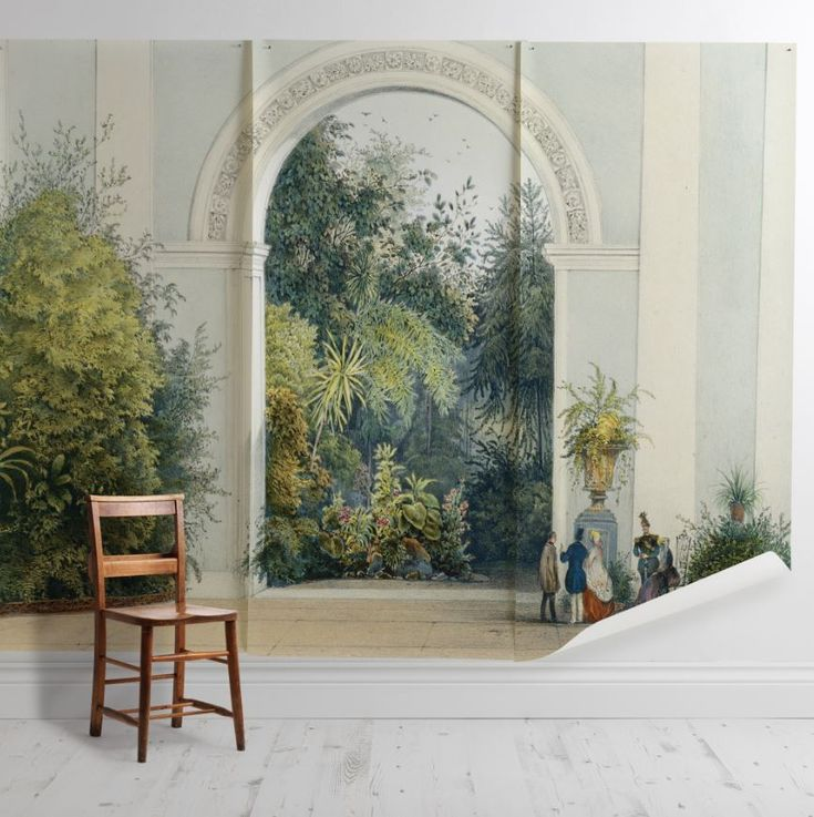 'Winter Garden Antoine' Mural - The Royal Horticultural Society from £60 per sq/m | Shop Canvases & Wall Murals at surfaceview.co.uk