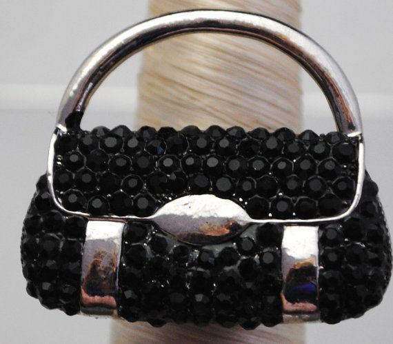 Statement Purse Ring/Black/Adult/Teenager/Gift by victoriascharms