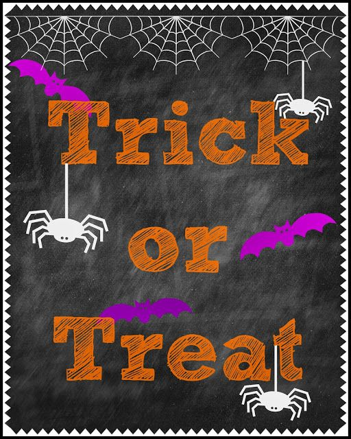 Second Chance to Dream: Chalkboard Halloween Printable