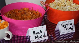 rock star party food for kids | Real Party ~ Rock Star Party!!