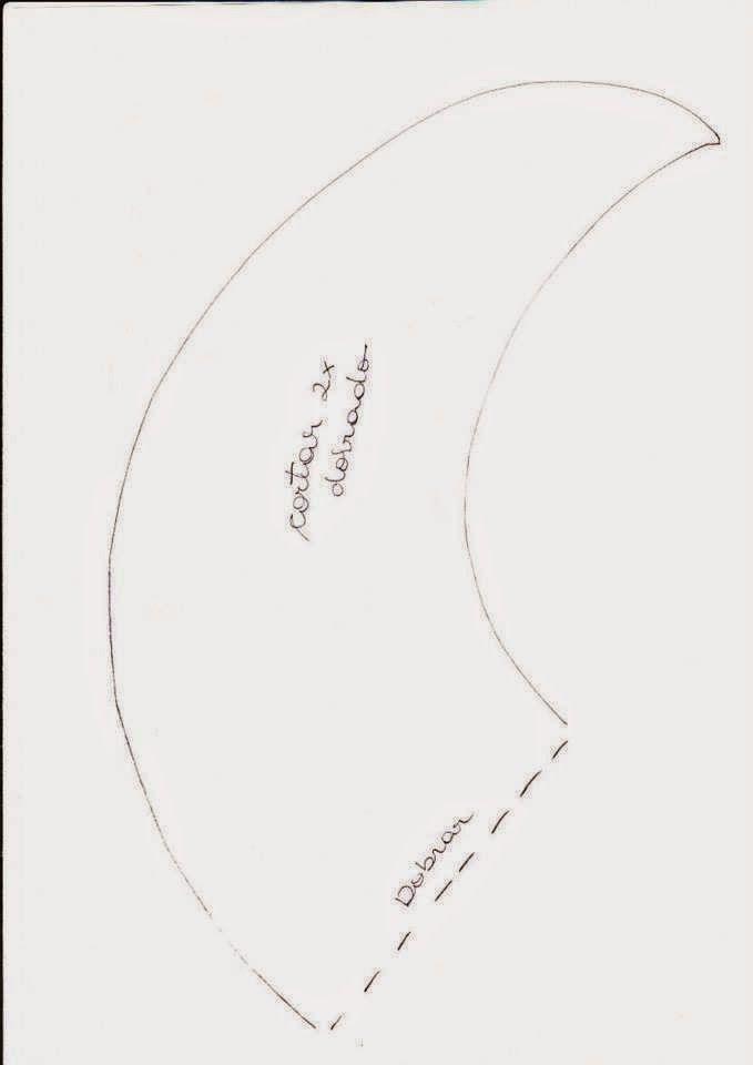 FELTRO MOLDES ARTESANATO EM GERAL, noel deitado na lua  (3)