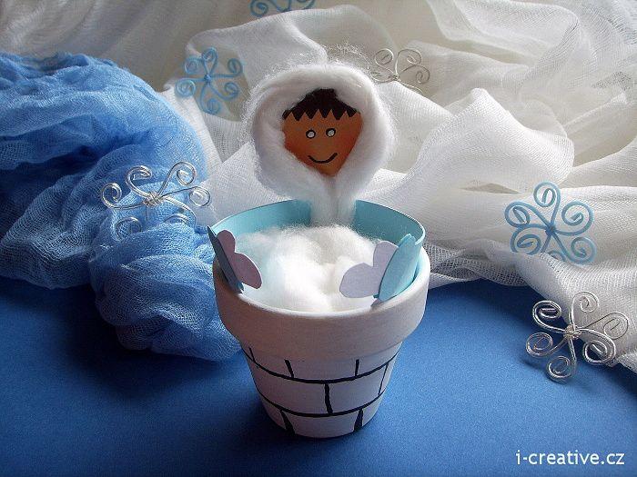 Eskimo - winter craft for kids. Eskymák - zimní tvoření s dětmi.