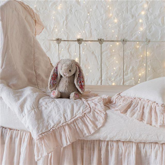 Bella Notte Baby Blanket Whisper Linen