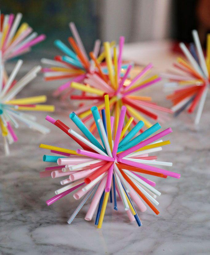 DIY Straw Sunburst Ornaments