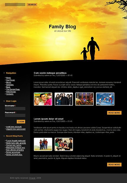 Family Smile Drupal Templates by Ares