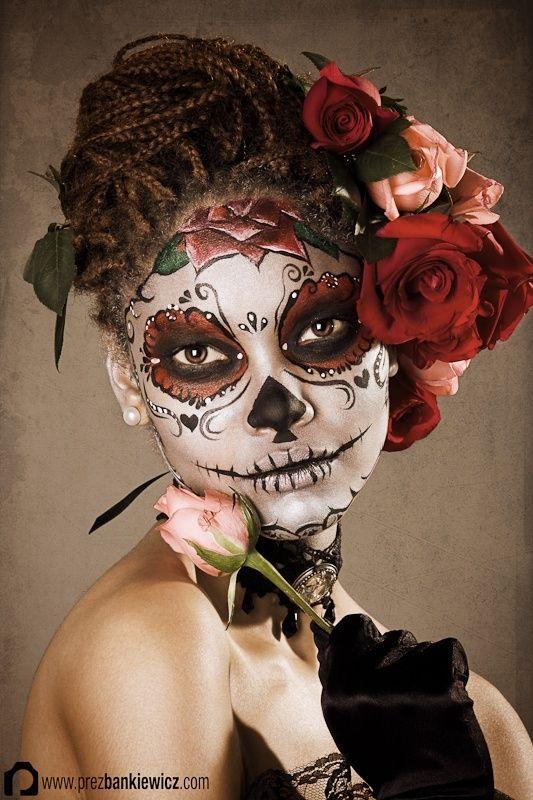 Makeup ideas for Madison's costume dia de los muertos makeup by thia.chirdon