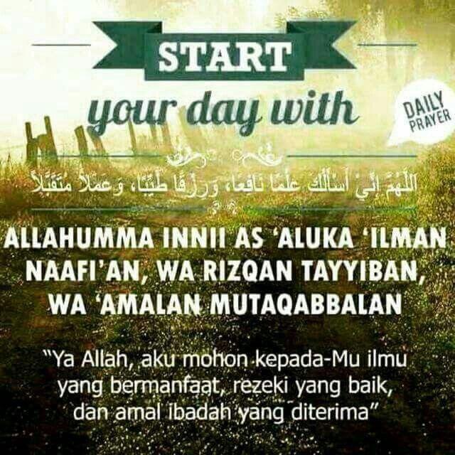 #startYouraDay #doaPagi