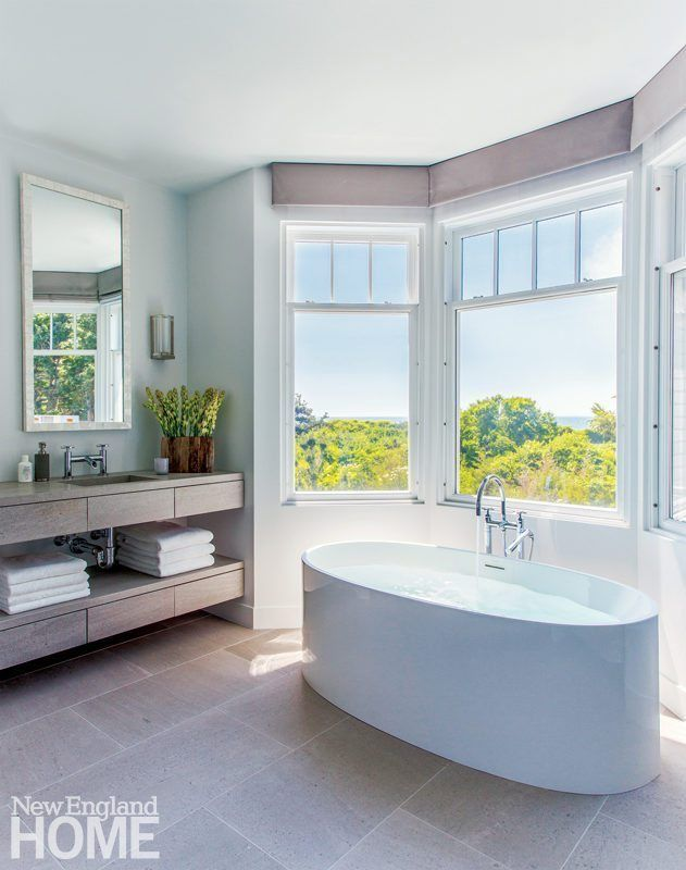 A Contemporary Shingle Style Home Designed By Hutker Architects New England Home Magazine Modern Master Bathroom Remodel Bathroom Remodel Master Simple Bathroom Remodel
