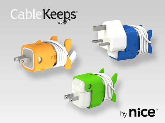CableKeeps - cool way to keep cords untangled for iPhone and iPad power plugs