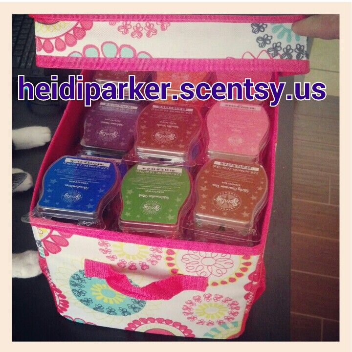 Use 31 Gifts flip top-organizing bin to carry Scentsy bars--fits 48 bars with room to spare!