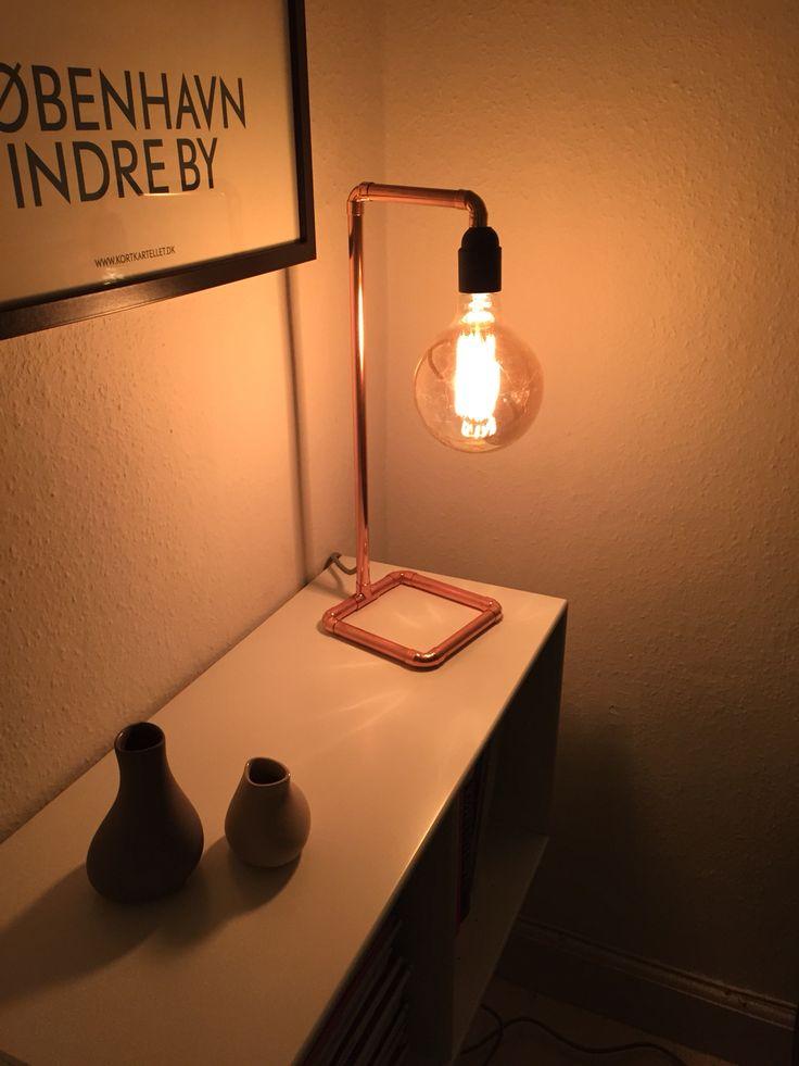 #DIY #copperlamp #steen #tidmand