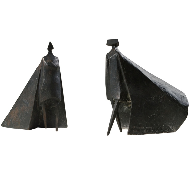 """1stdibs - Lynn CHADWICK """"Walking Cloaked Figures VI"""" explore items from 1,700  global dealers at 1stdibs.com"""