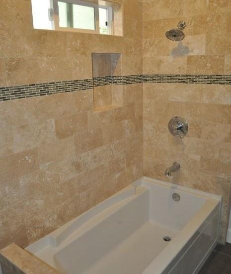 71 best images about travertine design on pinterest for Old tile bathroom renovation