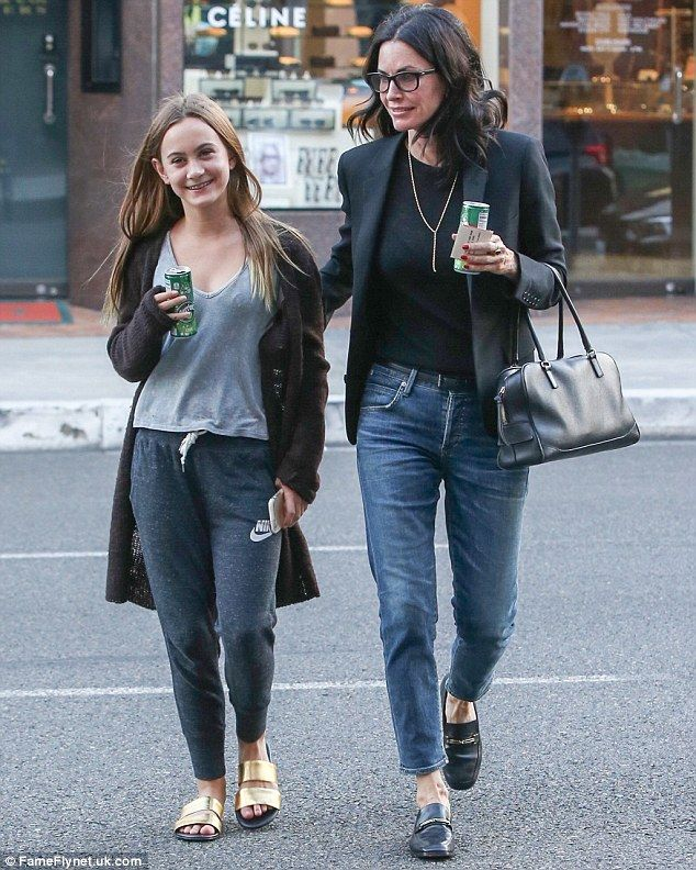 Girls' day: Courteney Cox stepped out with daughter Coco in Los Angeles on Tuesday...