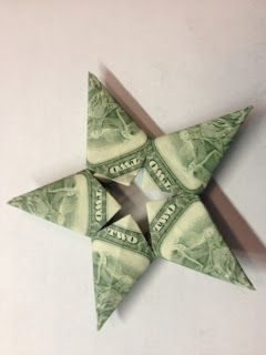 Oragami money stars: gifts or tooth fairy idea!