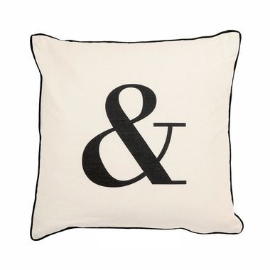 "&"""" Typography Throw Pillow"