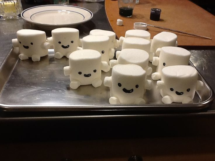 Adipose marshmallows for your Doctor Who watching parties. And bday parties too