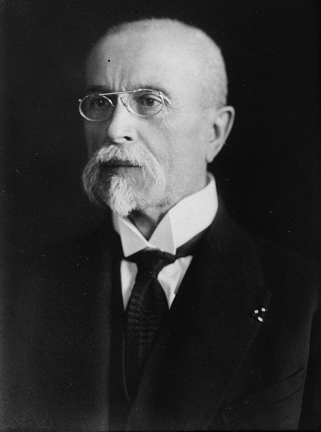 Tomáš Garrigue Masaryk (1850) -Czechoslovak politician, sociologist and philosopher, the founder and first President of Czechoslovakia. One of the most important personalities of the abolition of the monarchy.  #Czechia #Czechoslovakia