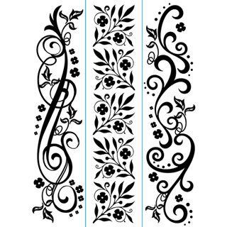 Darice® Embossing Essentials 1.5 x 5.75 inch Embossing Folder Border 3 pack - Flourish