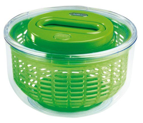 Zyliss Easy Spin Salad Spinner in Transparent The Easy spin is a salad spinner which automatically spins salad for drying at the pull of a handle. Place lettuce in to the bowl and pull retractable cord to spin the salad and press brake system to  http://www.MightGet.com/february-2017-2/zyliss-easy-spin-salad-spinner-in-transparent.asp