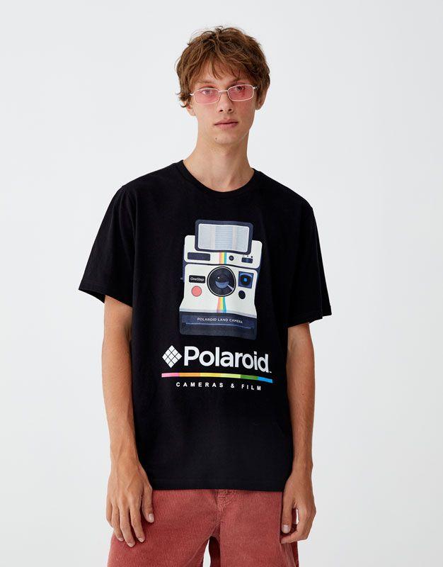 114176c6f Polaroid' camera T-shirt - pull&bear | graphic tees in 2019 | Mens ...