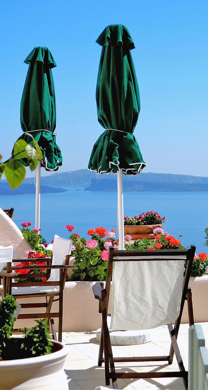 Balcony for 2 in Oia, Santorini ,Greece <3<3 Visit http://www.hot-lyts.com/ for beautiful background images