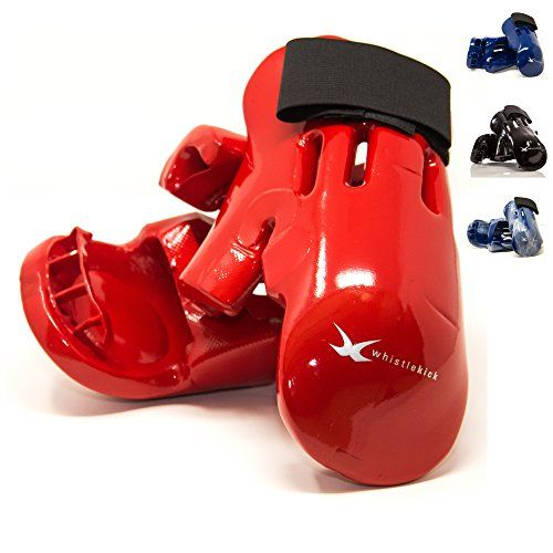 whistlekick Karate Sparring Gear Set Bundle of Karate Sparring and Taekwondo Gloves with Backpack, Child Medium, Red:   Heat (Red) Child MediumCHECK OUT OUR TOP-RATED, AMAZINGLY COMFORTABLE MARTIAL ARTS SPARRING GLOVES!/b  Our karate gear (taekwondo gear) comes in a reusable drawstring backpack - $9.99 value! /b ul liBUILT BETTER - We use premium materials and better designs than others which makes our karate sparring gear more comfortable to wear AND more protective./li liLASTS LONGER...
