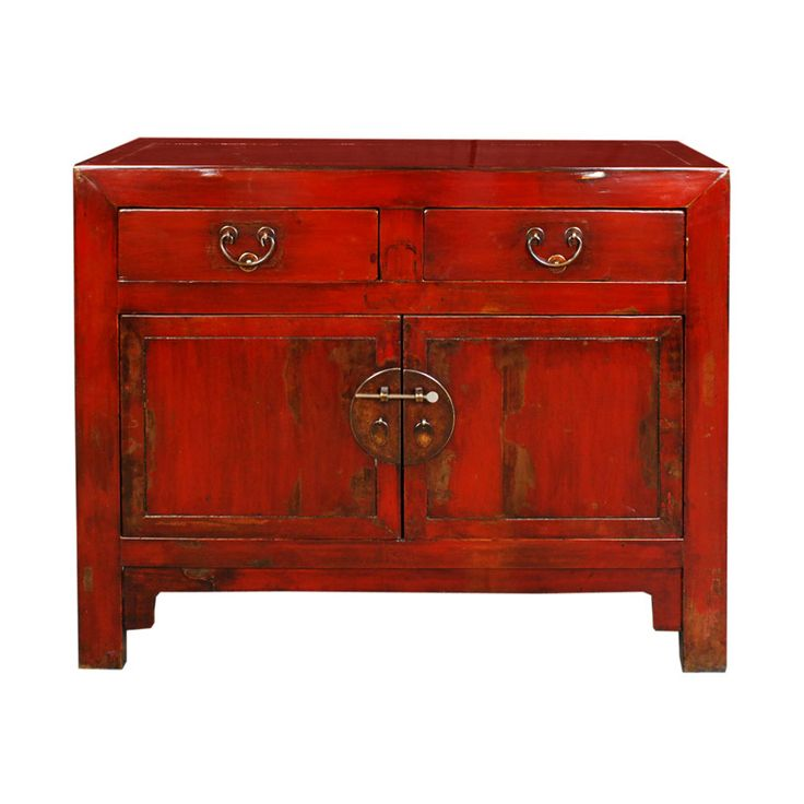 19th Century Chinese Red Lacquered Chest