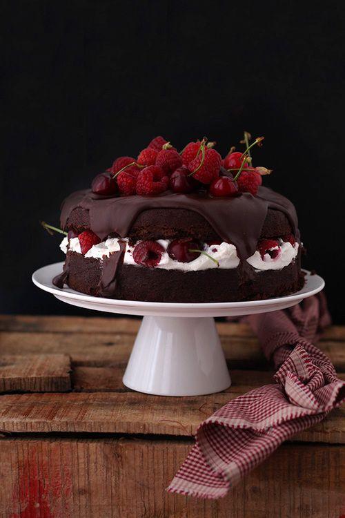 baking, cake, and cherry image