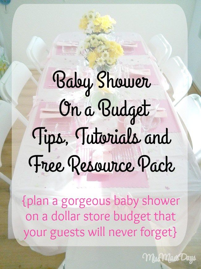 Baby Shower on a Budget, dollar store shopping, tips, tutorials and FREE Resource Pack