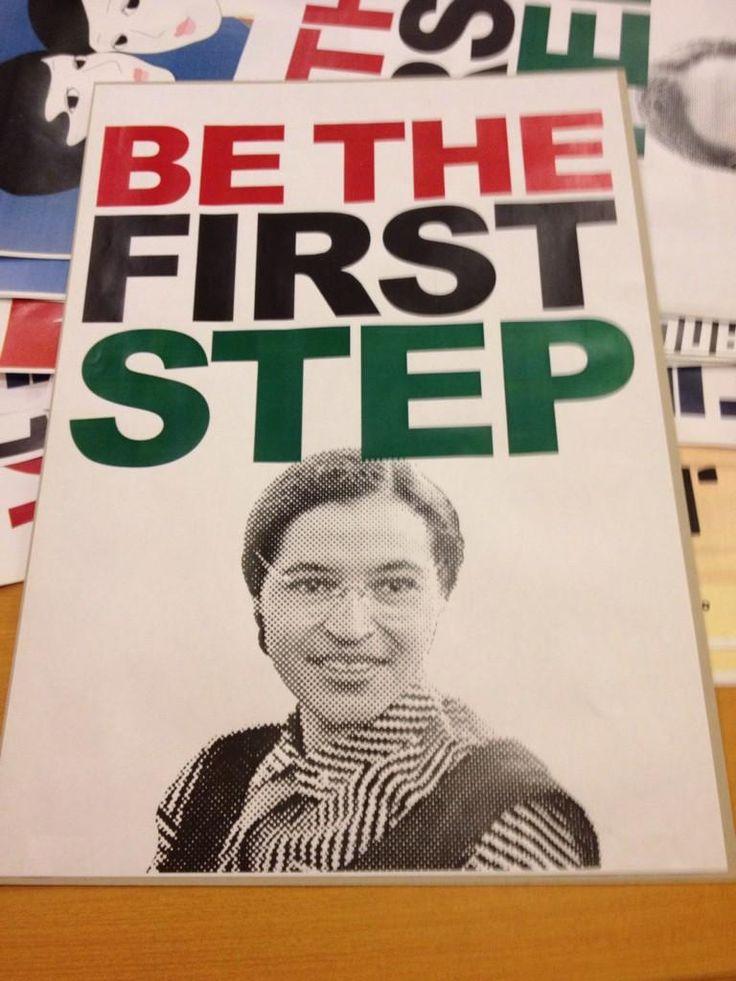 ローザ・パークスさん  「最初の一歩になれ。」