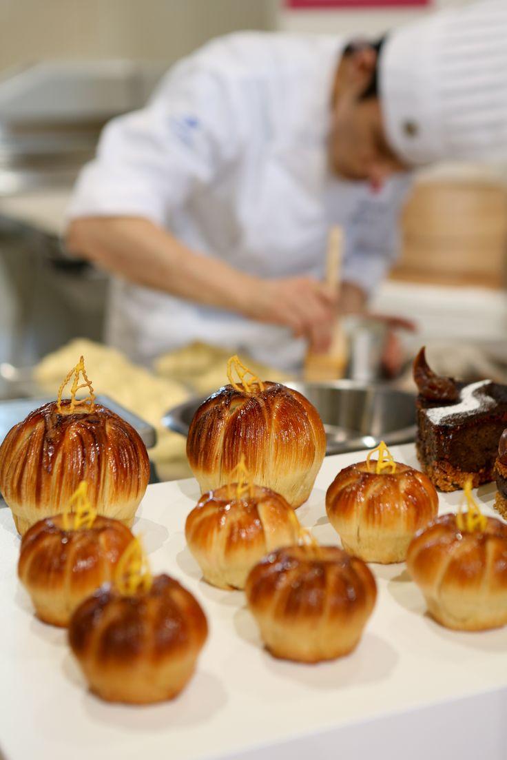 Masters de la Boulangerie 2014 – candidat du Japon Takuya SASAKI, catégorie Viennoiserie. 2014 Bakery Masters – candidate from Japan Takuya SASAKI, category Viennese Pastry  Copyright Clémentine BEJAT