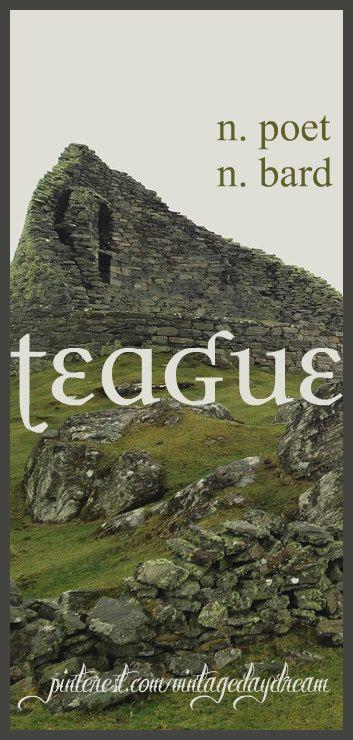 Baby Boy Name: Teague. Meaning: Poet; Bard. Origin: Scottish; Irish. https://www.pinterest.com/vintagedaydream/baby-names/