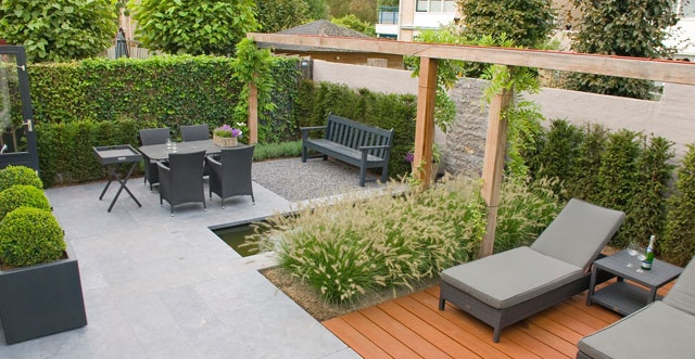Aanleg stoop tuinen garden pinterest gardens in the garden and tuin - Deco moderne tuin ...