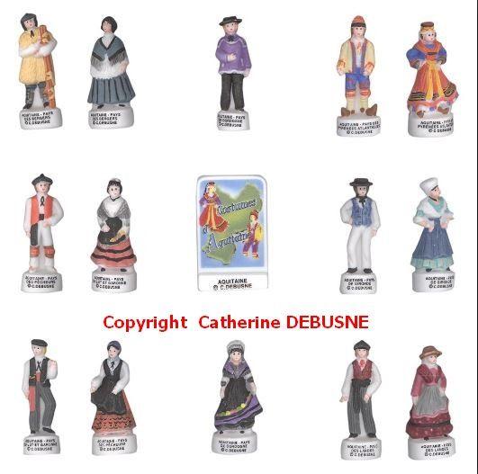 Toutes le régions en figurines de porcelaine chez SA.PRIME http://fabophile.fr/index.php/fr/feves/creations/feves-histoire-civilisation.html