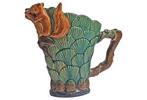 English Majolica Squirrel Pitcher: English Majolica, Majolica Mad, Majolica Squirrels, Squirrels Pitcher, Jugs Squirrels
