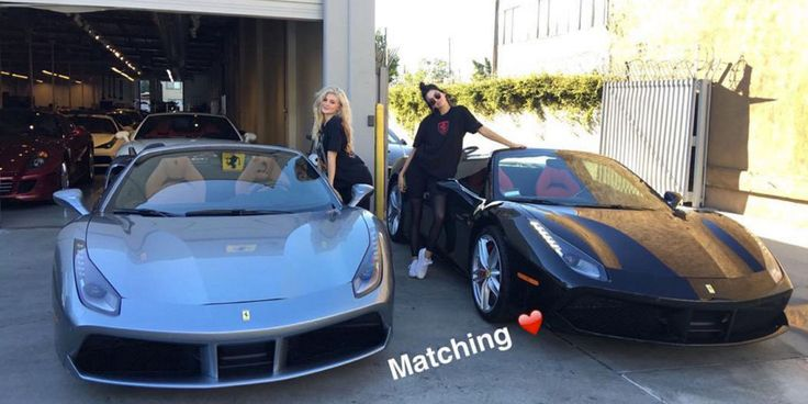 Kendall and Kylie Jenner Buy Matching Spider Ferraris - Kendall and Kylie Jenner's Cars