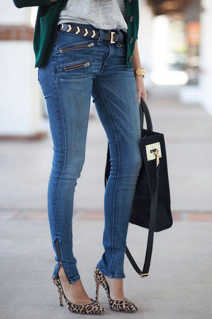 Rag & Bone zipper crop jean