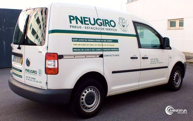 Decoração de viatura para a PneuGiro.