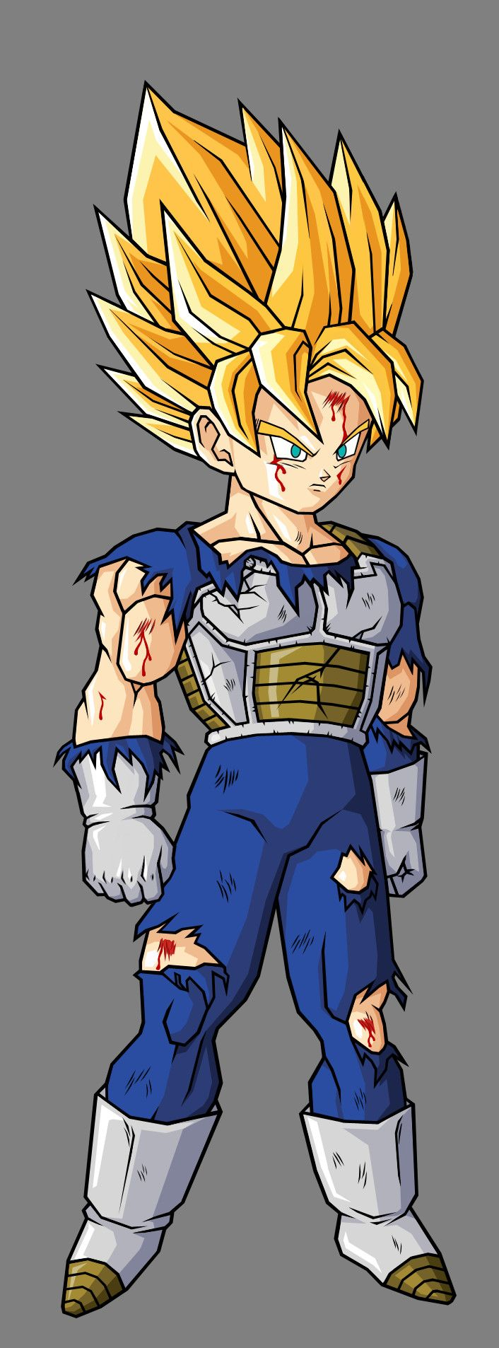 Pre Teen Goku SSJ, In Saiyan Armor by ~hsvhrt on deviantART