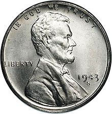 """Numismatic Oddities: The ONE and ONLY coin in the history of U.S. Currency capable of being lifted with a magnet was the 1943 steel penny, sometimes called """"the Steelie"""".  In an effort to save copper for war production, the 1943 mint run used a steel penny with a zinc covering.  This proved to be wildly unpopular with the general public, as they were often confused with dimes and human perspiration caused the edges of the penny (not covered in zinc) to inevitably rust."""