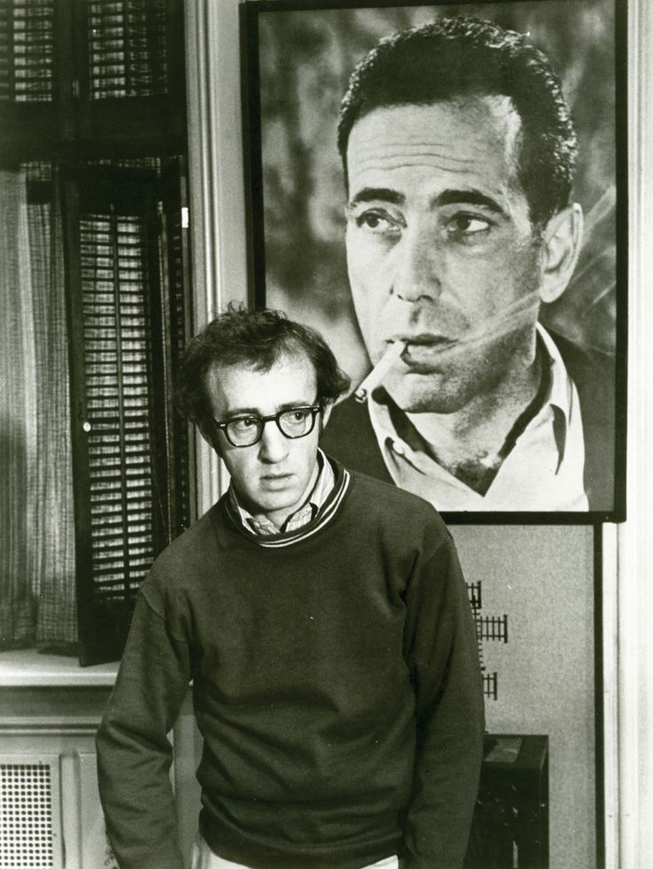 Woody Allen on the set of PLAY IT AGAIN, SAM (1972)