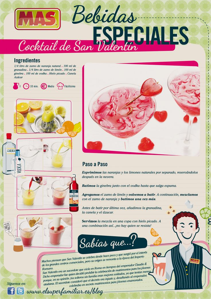 Un #cocktail muy especial para sorprender a quien querái#