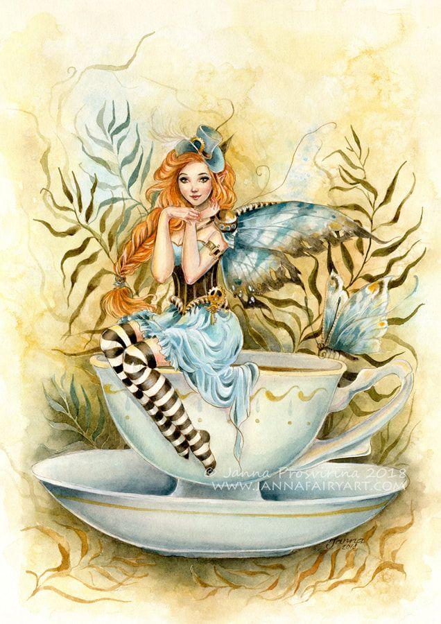 чайная фея картинки демонстрирует, какую